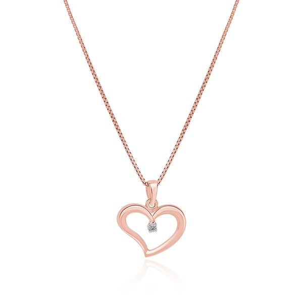 10KR Diamond Set Heart (Large) Necklace Barthau Jewellers Stouffville, ON