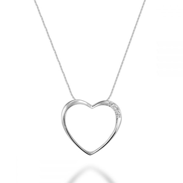 10KW Diamond Heart Necklace Barthau Jewellers Stouffville, ON