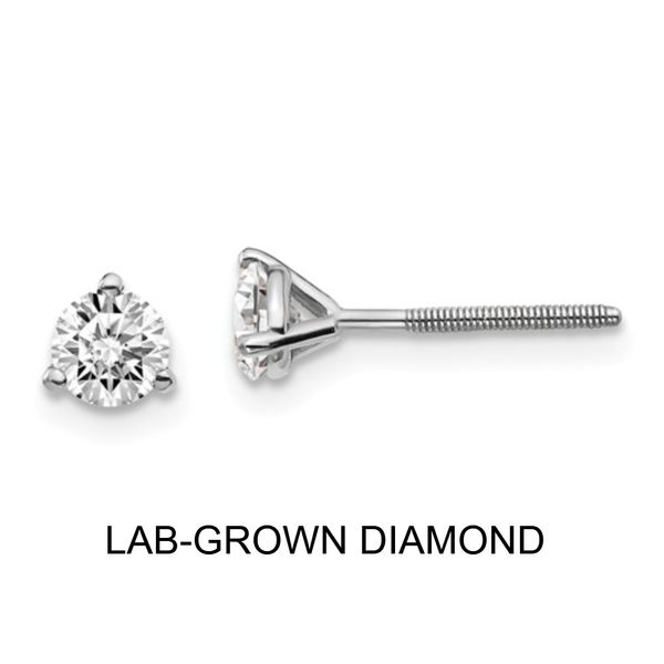 14KW 0.50TW Lab-Grown Diamond Stud Earrings Barthau Jewellers Stouffville, ON