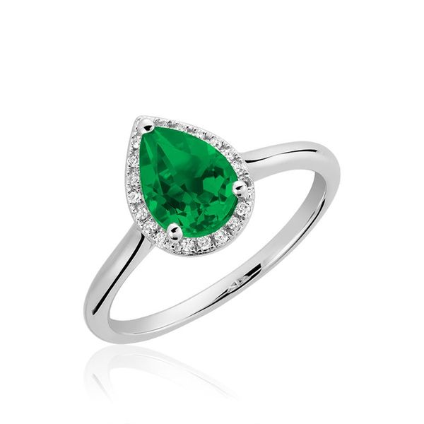 10KW Created Emerald & Diamond Ring Barthau Jewellers Stouffville, ON