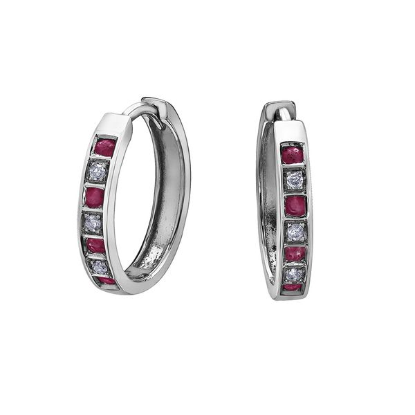 10KW Ruby & Diamond Earrings Barthau Jewellers Stouffville, ON