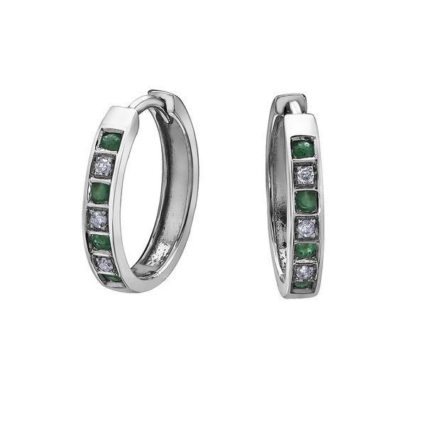 10KW Emerald & Diamond Earrings Barthau Jewellers Stouffville, ON