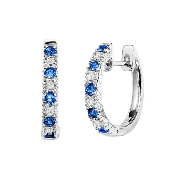 10KW Blue Sapphire & Diamond Earrings Barthau Jewellers Stouffville, ON