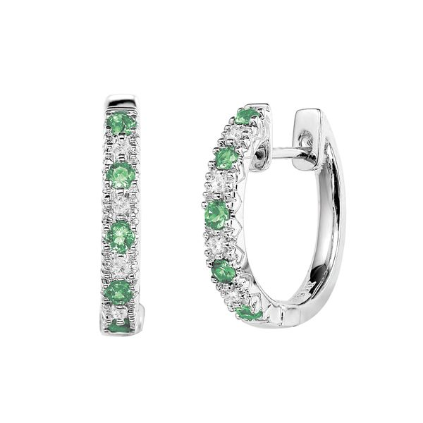 925 Emerald & CZ Earrings Barthau Jewellers Stouffville, ON