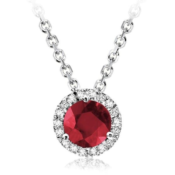 10KW Ruby & Diamond Necklace Barthau Jewellers Stouffville, ON