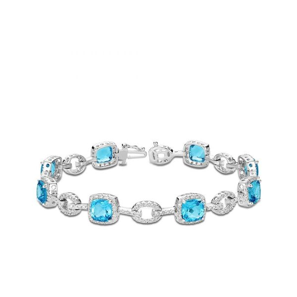 925 Blue Topaz & CZ Bracelet Barthau Jewellers Stouffville, ON