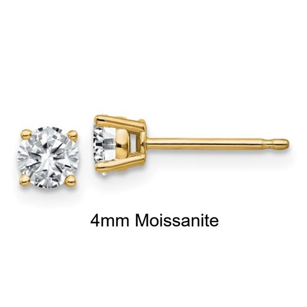 14KY 0.50TW* 4mm Moissanite Stud Earring Barthau Jewellers Stouffville, ON