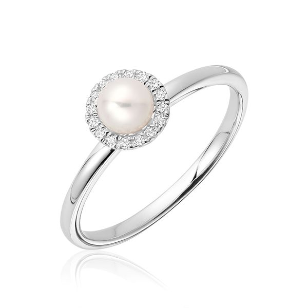 10KW Cultured Pearl And Diamond Ring Barthau Jewellers Stouffville, ON