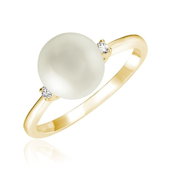 10KY Cultured Pearl & Diamond Ring Barthau Jewellers Stouffville, ON