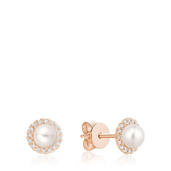10KR Cultured Pearl And Diamond (0.10TW) Earrings Barthau Jewellers Stouffville, ON