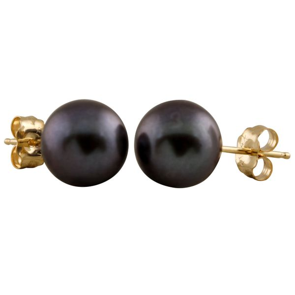 14KY 6MM Black Freshwater Pearl Earrings Barthau Jewellers Stouffville, ON