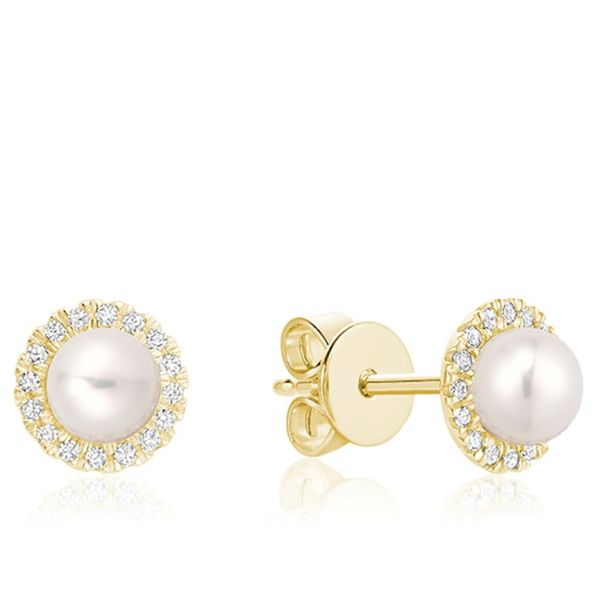 10KY Cultured Pearl And Diamond (0.10TW) Earrings Barthau Jewellers Stouffville, ON
