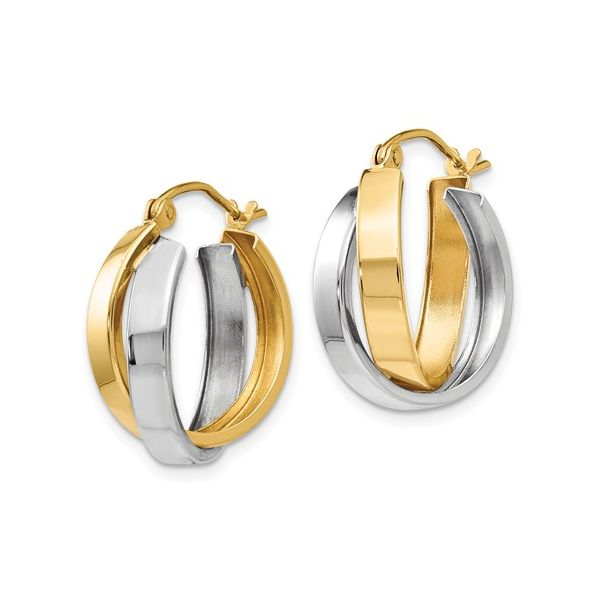 14KY/W Hoop Earrings Image 2 Barthau Jewellers Stouffville, ON