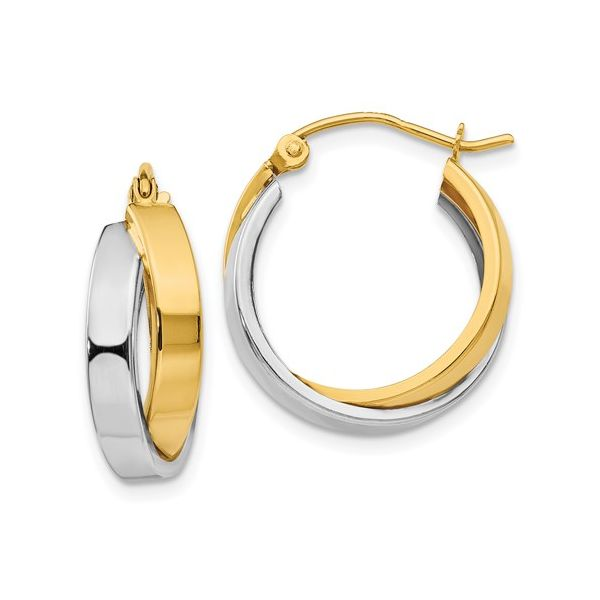 14KY/W Hoop Earrings Barthau Jewellers Stouffville, ON