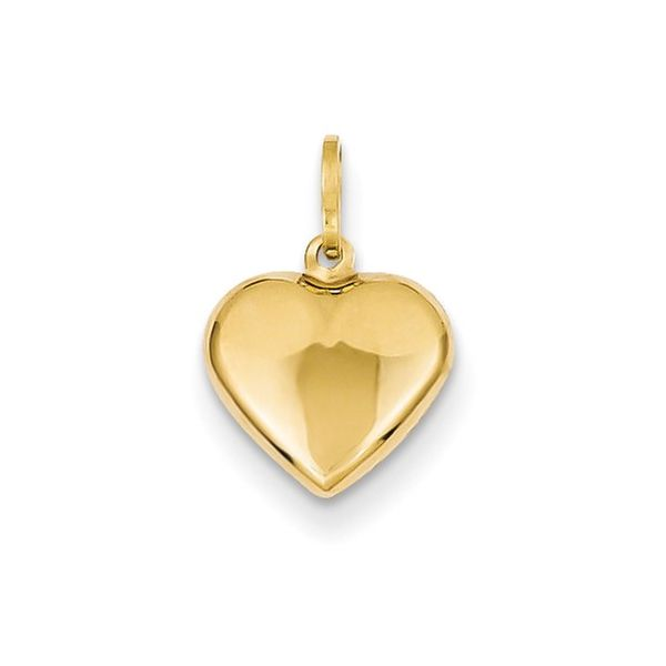 10KY Charm Heart Med. Barthau Jewellers Stouffville, ON