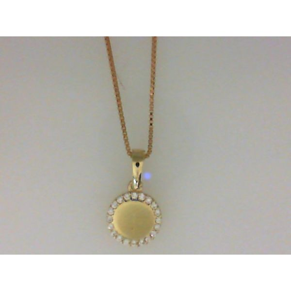 10KY CZ Disc Necklace Barthau Jewellers Stouffville, ON