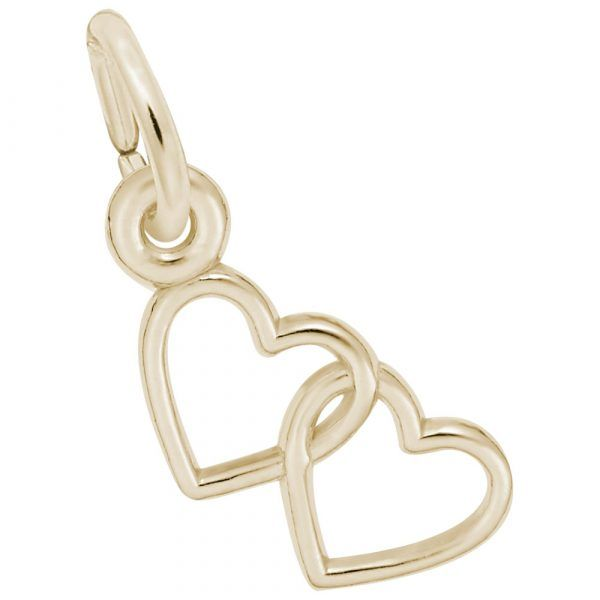 10KY Interlocking Hearts Charm Barthau Jewellers Stouffville, ON