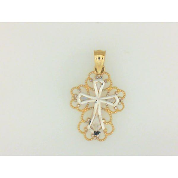 14KY/W Cross Pendant Barthau Jewellers Stouffville, ON