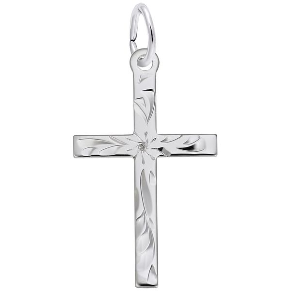 925 Charm Cross Engraved Barthau Jewellers Stouffville, ON