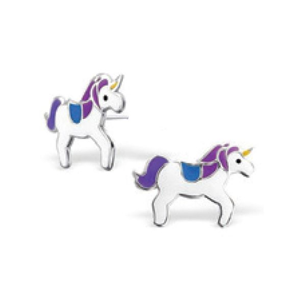 925 Flora Enamel Unicorn Earrings Barthau Jewellers Stouffville, ON