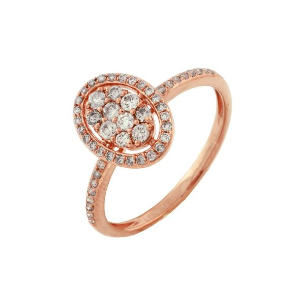 Rose Gold Cluster Ring Baxter's Fine Jewelry Warwick, RI