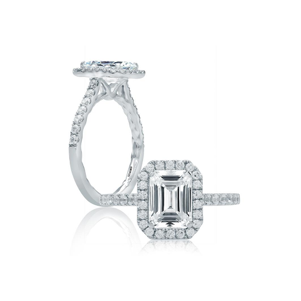 A.Jaffe Quilted Halo Engagement Ring Baxter's Fine Jewelry Warwick, RI