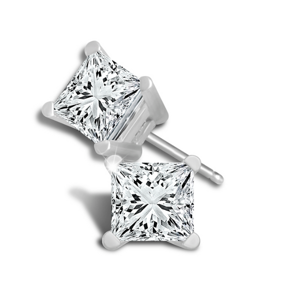 Princess Cut Diamond Stud Earrings Baxter's Fine Jewelry Warwick, RI