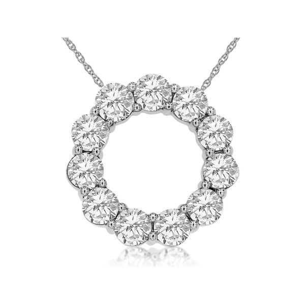 White Gold Diamond Circle Pendant Baxter's Fine Jewelry Warwick, RI