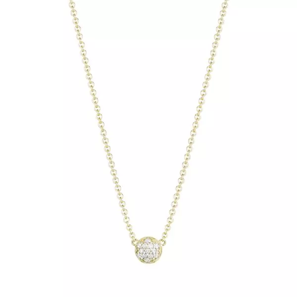 Petite Dew Drop Pendant featuring Pavé Diamonds Baxter's Fine Jewelry Warwick, RI