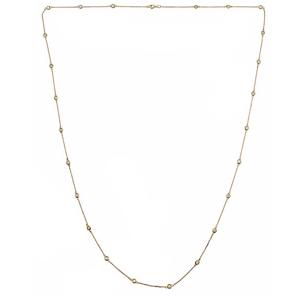 36 Inch Diamond By The Yard Necklace in 14K Yellow Baxter's Fine Jewelry Warwick, RI