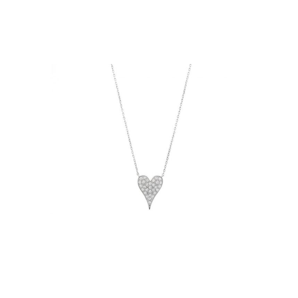 Diamond Pave Heart Necklace Baxter's Fine Jewelry Warwick, RI