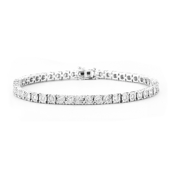 4 Prong Tennis Bracelet Made In 14K White Gold Baxter's Fine Jewelry Warwick, RI