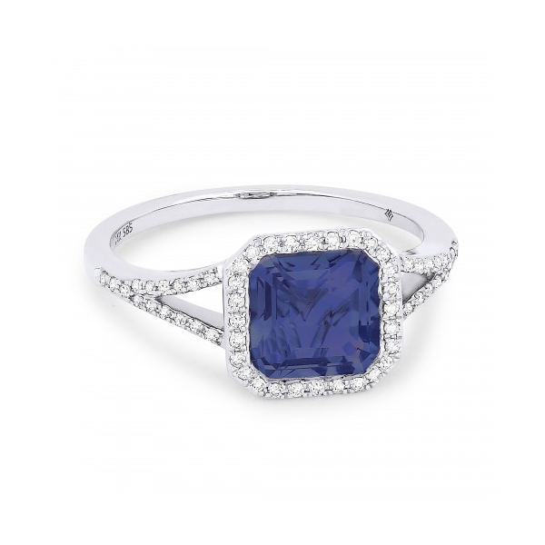 Diamond and Created Sapphire Ring Baxter's Fine Jewelry Warwick, RI