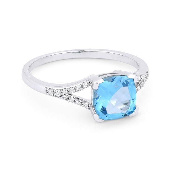 Diamond and Blue Topaz Ring Baxter's Fine Jewelry Warwick, RI