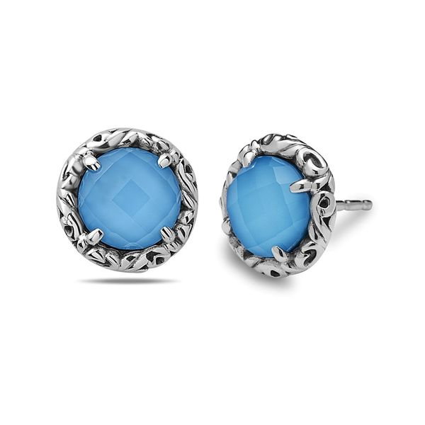 Round Turquoise Stud Earrings Baxter's Fine Jewelry Warwick, RI
