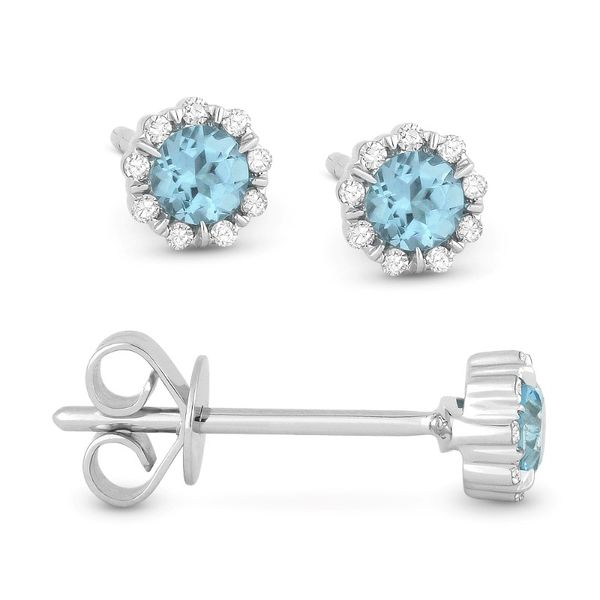 Blue Topaz Stud Earrings Baxter's Fine Jewelry Warwick, RI
