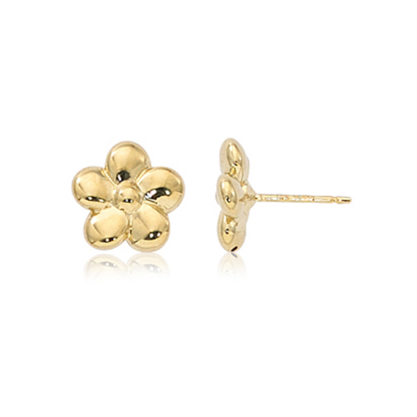 Yellow Gold Flower Stud Earrings Baxter's Fine Jewelry Warwick, RI