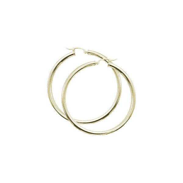 Yellow Gold Large Hollow Hoops Baxter's Fine Jewelry Warwick, RI