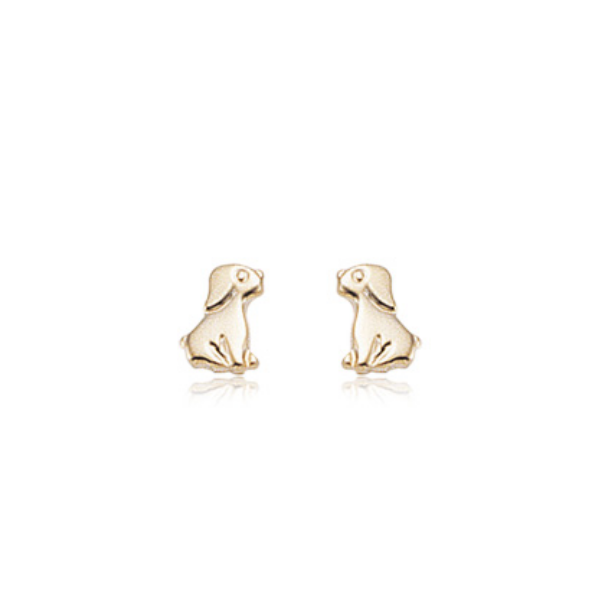 14K Yellow Gold Dog Stud Earrings Baxter's Fine Jewelry Warwick, RI