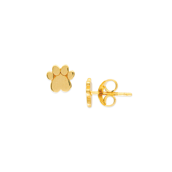 GOLD PAW PRINT EARRINGS Baxter's Fine Jewelry Warwick, RI