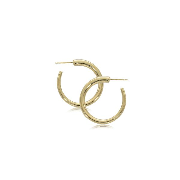 14K YELLOW GOLD SMALL HOOP EARRINGS Baxter's Fine Jewelry Warwick, RI