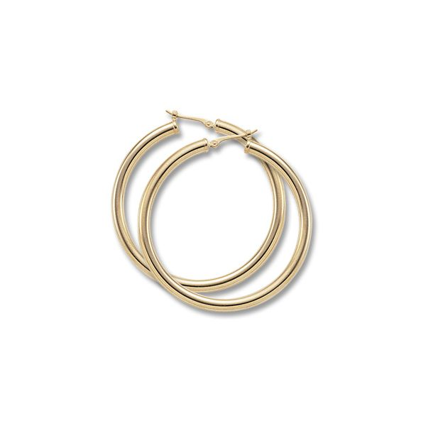 LARGE TUBE HOOP EARRINGS Baxter's Fine Jewelry Warwick, RI
