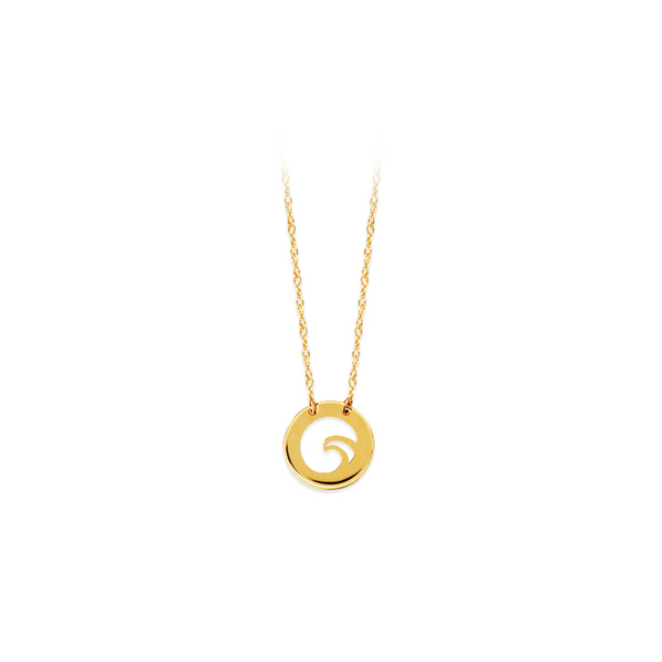 14k Yellow Gold Wave Necklace Baxter's Fine Jewelry Warwick, RI