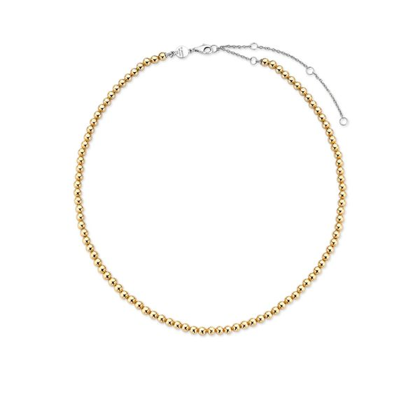 Ti Sento Sterling Silver and Yellow Gold Plated Beaded Necklace Image 2 Baxter's Fine Jewelry Warwick, RI