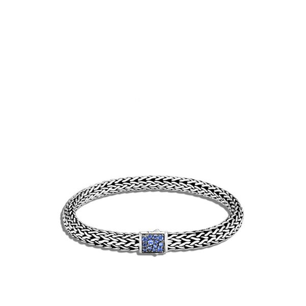 Reversible Classic Chain Bracelet with Black Sapphire and Blue Sapphire Baxter's Fine Jewelry Warwick, RI