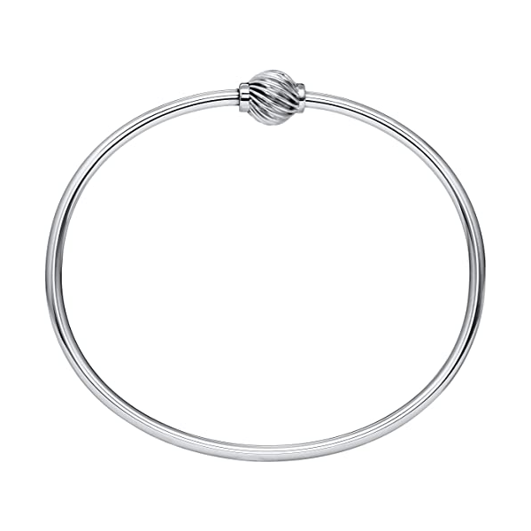 Sterling Silver Single Swirl Ball Bracelet Baxter's Fine Jewelry Warwick, RI