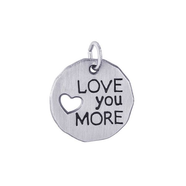 Love You More Tag Charm Baxter's Fine Jewelry Warwick, RI