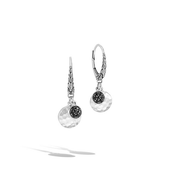 Hammered Drop Earrings with Black Sapphire and Black Spinel Baxter's Fine Jewelry Warwick, RI