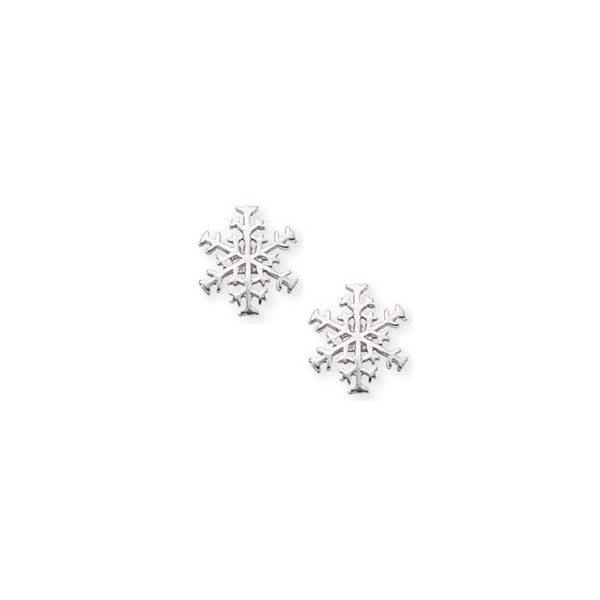 Sterling Silver Snowflake Stud Earrings Baxter's Fine Jewelry Warwick, RI
