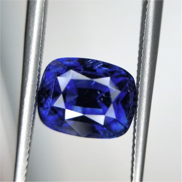 3.17ct Cushion Cut Sapphire Becky Beauchine Kulka Diamonds and Fine Jewelry Okemos, MI